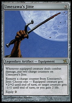 Magic the Gathering Betrayers of Kami Single Umezawa's Jitte - MODERATE PLAY (MP)