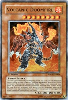 Yu-Gi-Oh Force of the Breaker 1st Edition Single Volcanic Doomfire Ultra Rare