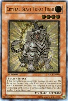 Yu-Gi-Oh Force of the Breaker Single Crystal Beast Topaz Tiger Ultimate Rare
