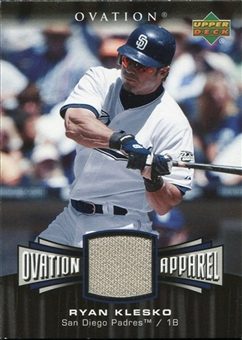 2006 Upper Deck Ovation Apparel #RK Ryan Klesko Jersey