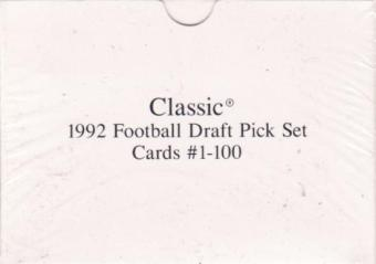 1992 Classic Draft Picks Football Set