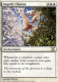 Magic the Gathering 10th Edition Single Angelic Chorus - NEAR MINT (NM)