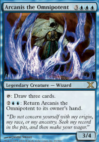 Magic the Gathering 10th Edition Single Arcanis the Omnipotent - SLIGHT PLAY (SP)