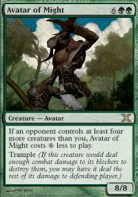 Magic the Gathering 10th Edition Single Avatar of Might - NEAR MINT (NM)