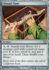 Magic the Gathering 10th Edition Single Citanul Flute - NEAR MINT (NM)