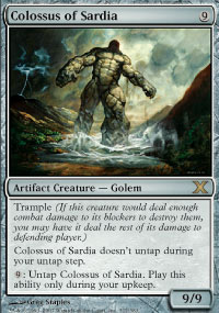 Magic the Gathering 10th Edition Single Colossus of Sardia FOIL