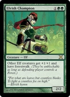 Magic the Gathering 10th Edition Single Elvish Champion - NEAR MINT (NM)