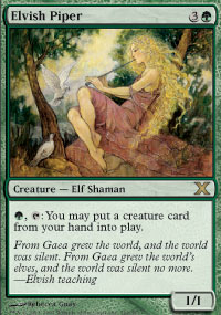 Magic the Gathering 10th Edition Single Elvish Piper Foil - NEAR MINT (NM)