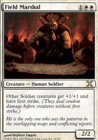 Magic the Gathering 10th Edition Single Field Marshal Foil