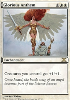 Magic the Gathering 10th Edition Single Glorious Anthem Foil