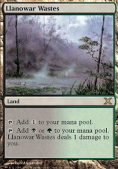 Magic the Gathering 10th Edition Single Llanowar Wastes - NEAR MINT (NM)