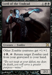 Magic the Gathering 10th Edition Single Lord of the Undead Foil