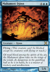 Magic the Gathering 10th Edition Single Mahamoti Djinn - NEAR MINT (NM)