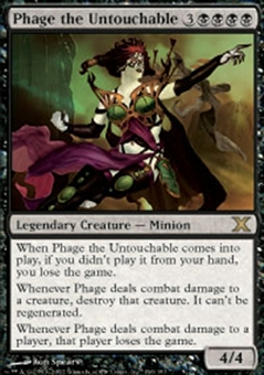 Magic the Gathering 10th Edition Single Phage the Untouchable Foil