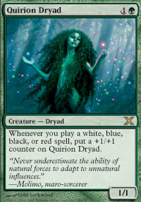 Magic the Gathering 10th Edition Singles 4x Quirion Dryad UNPLAYED (NM/MT)