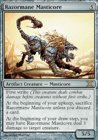 Magic the Gathering 10th Edition Single Razormane Masticore FOIL
