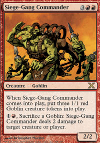 Magic the Gathering 10th Edition Single Siege-Gang Commander - NEAR MINT (NM)