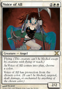 Magic the Gathering 10th Edition Single Voice of All Foil