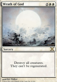 Magic the Gathering 10th Edition Single Wrath of God FOIL