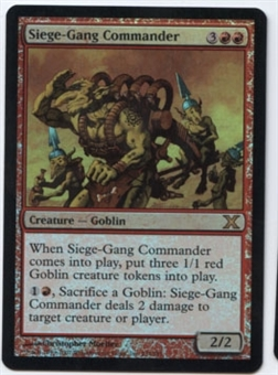 Magic the Gathering 10th Edition Single Siege-Gang Commander Foil