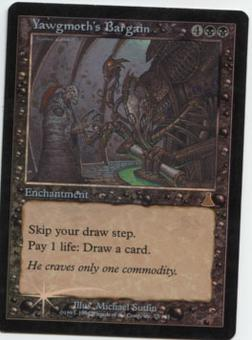 Magic the Gathering Urza's Destiny Single Yawgmoth's Bargain FOIL