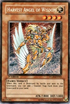 Yu-Gi-Oh Strike of Neos Single Harvest Angel of Wisdom Secret Rare