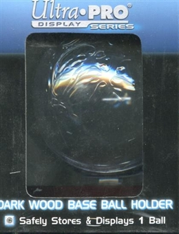 Ultra Pro Baseball Holder Wood Base (dark wood)