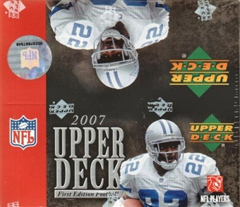 2007 Upper Deck 1st Edition Football 36-Pack Box