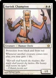 Magic the Gathering Fifth Dawn Single Auriok Champion LIGHT PLAY (NM)