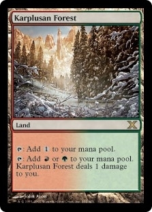 Magic the Gathering 10th Edition Single Karplusan Forest - SLIGHT PLAY (SP)