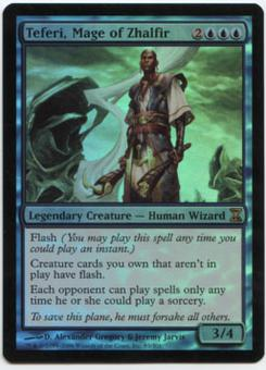 Magic the Gathering Time Spiral Single Teferi, Mage of Zhalfir Foil - SLIGHT PLAY (SP)