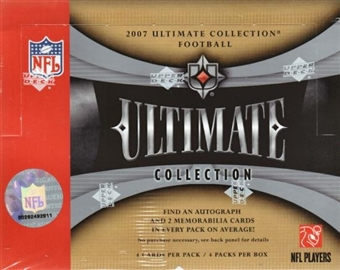 2007 Upper Deck Ultimate Collection Football Hobby Box