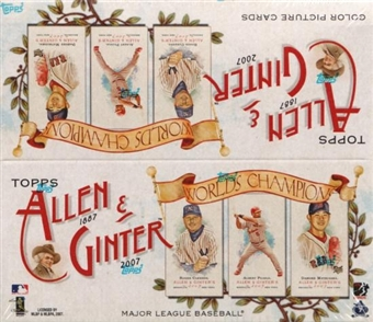 2007 Topps Allen & Ginter Baseball 24-Pack Box