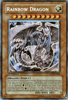 Yu-Gi-Oh Tactical Evolution Single Rainbow Dragon Ghost Rare - 1st Edition