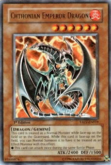 Yu-Gi-Oh Tactical Evolution Single Chthonian Emperor Dragon Ultra Rare