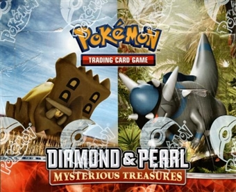 Pokemon Diamond & Pearl Mysterious Treasures Theme Deck Box