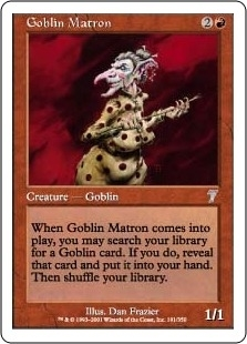 Magic the Gathering 7th Edition Single Goblin Matron Foil