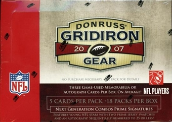 2007 Donruss Gridiron Gear Football Hobby Box