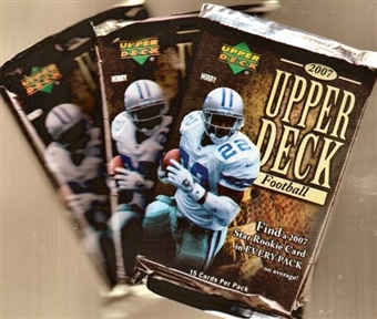2007 Upper Deck Football Hobby Pack