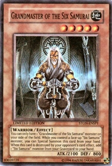 Yu-Gi-Oh Strike of Neos Single Grandmaster of the Six Samurai Super Rare