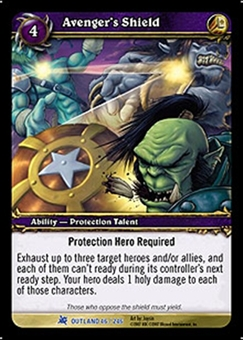 WoW Fires of Outland Single Avenger's Shield (FoO-046) LIGHT PLAY