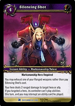 WoW Fires of Outland Single Silencing Shot (FoO-035) NM/MT