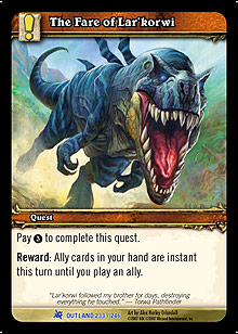 WoW Fires of Outland Singles 4x The Fare of Lar'korwi (FoO-233) NM/MT