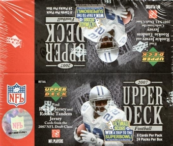 2007 Upper Deck Football 24 Pack Box