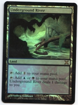 Magic the Gathering 10th Edition Single Underground River Foil