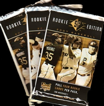 2007 Upper Deck SP Rookie Edition Baseball Hobby Pack