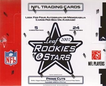 2007 Leaf Rookies & Stars Football Hobby Box