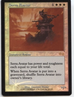 Magic the Gathering Arena Promo Single Serra Avatar Foil - SLIGHT PLAY (SP)