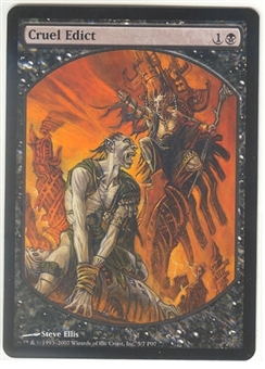 Magic the Gathering Promo Single Cruel Edict  (Textless) - NEAR MINT (NM)