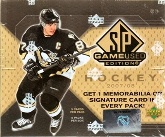 2007/08 Upper Deck SP Game Used Hockey Hobby Box